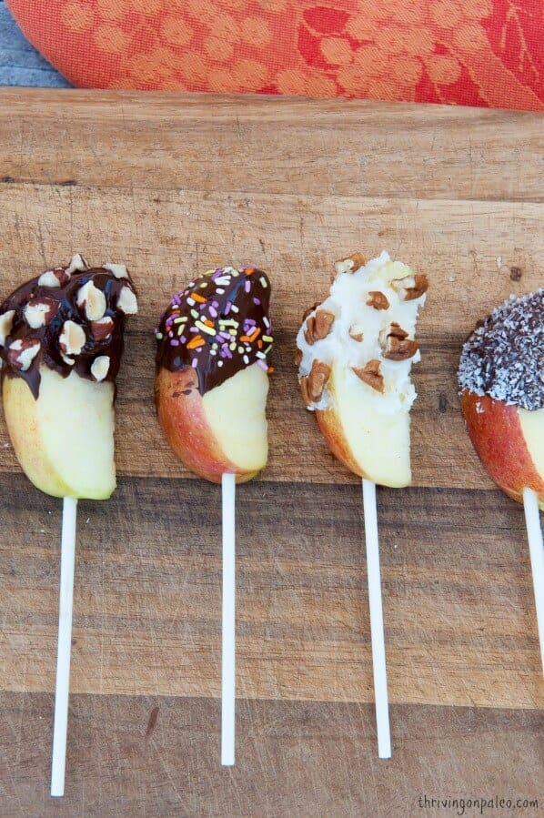 Chocolate Covered Apples Recipe and video tutorial by Thriving on Paleo (Paleo, gluten-free)