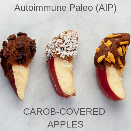 Carob covered apples
