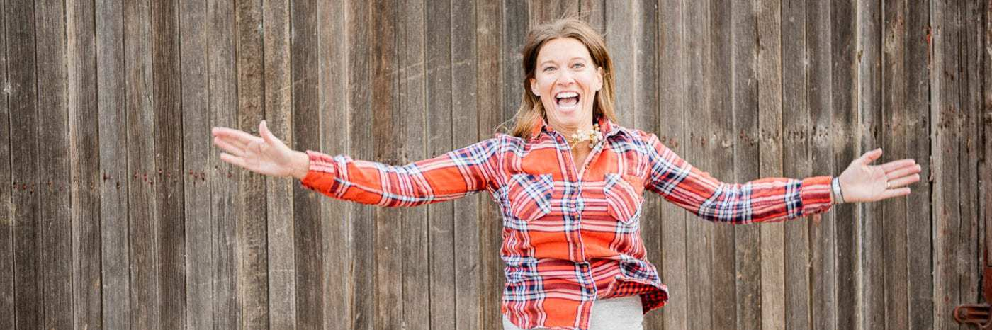 Michele Spring of Thriving On Paleo jumping