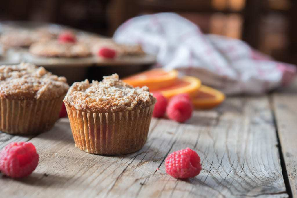 Paleo and gluten-free Orange Raspberry Muffins by Thriving On Paleo