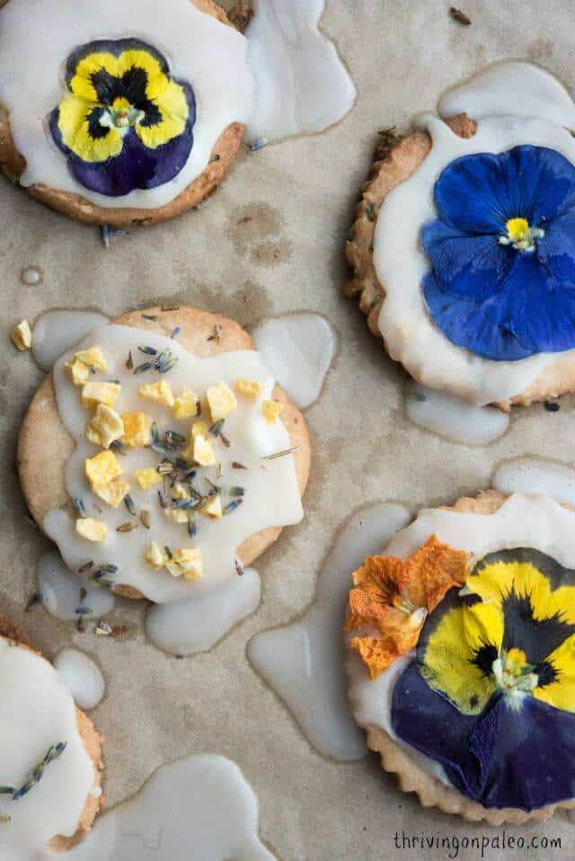 AIP Lavender Shortbread Cookie Recipe by Thriving On Paleo. This is a great dessert for those on the Autoimmune Paleo diet but also anyone who is egg-free and dairy-free as well. I also include a regular Paleo/gluten-free alternative.