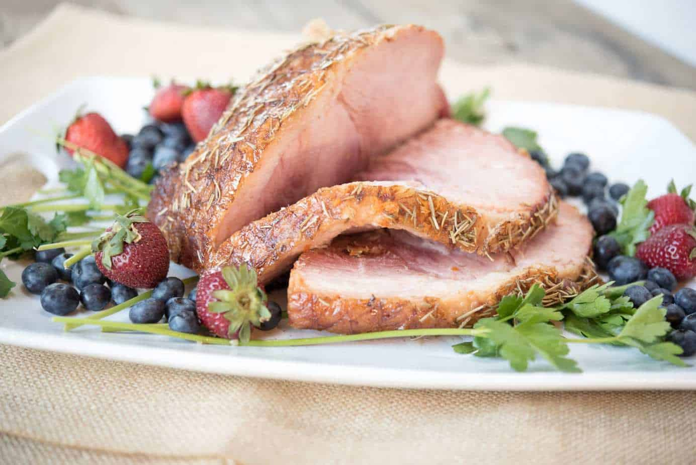 Paleo and Autoimmune Paleo friendly Slow Cooker Ham by Thriving On Paleo