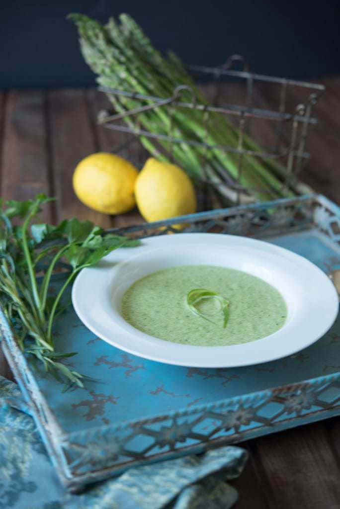 Paleo Asparagus Soup by Thriving On Paleo