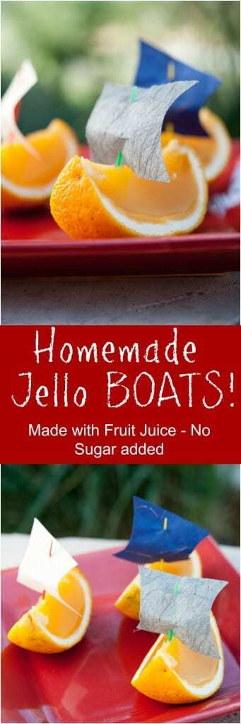 Homemade Jello Boats Recipe by Thriving On Paleo - a fun snack or treat for a kid's party that is Paleo, gluten-free, refined sugar-free