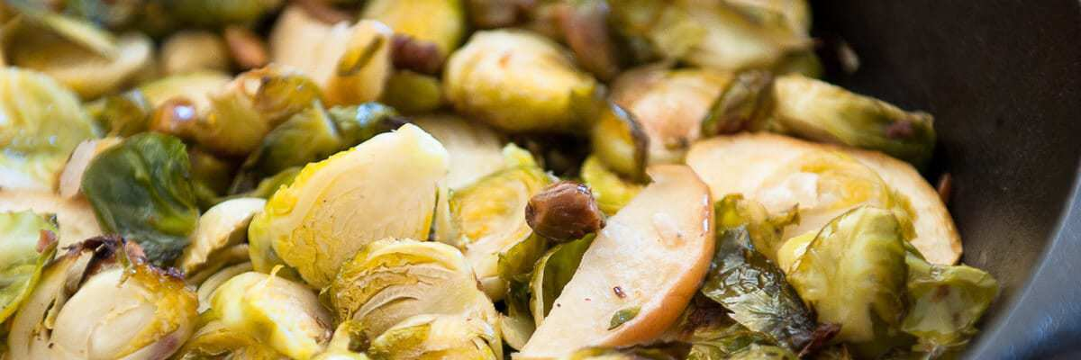 Brussels Sprouts with Apples and Pistachios Recipe by Thriving On Paleo