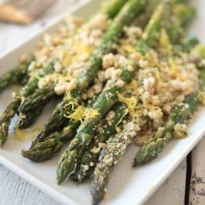 Roasted Asparagus with Paleo Breadcrumbs