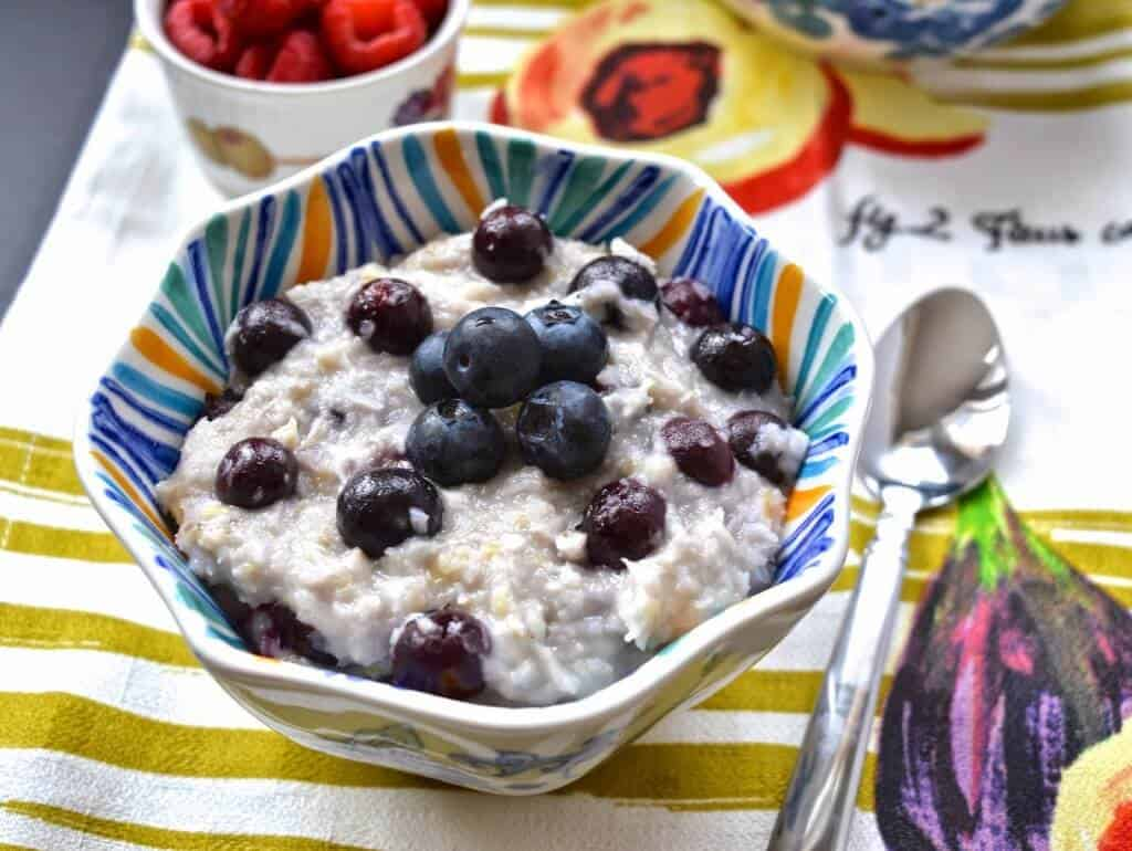 Coconut Blueberry Paleo Oatmeal