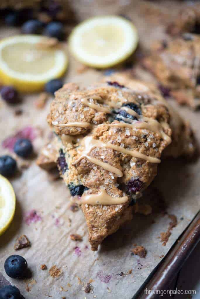 Paleo Blueberry Lemon Scones