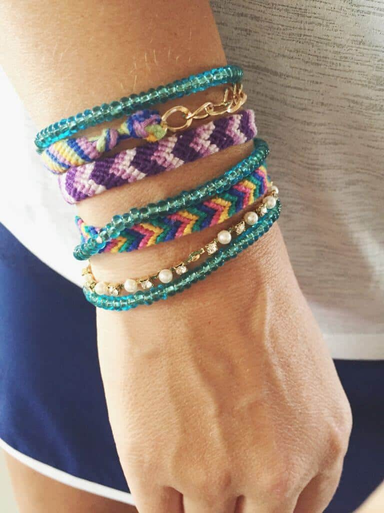 Unconventional Stress Relief technique - meditate by making friendship bracelets. Includes how-to video.