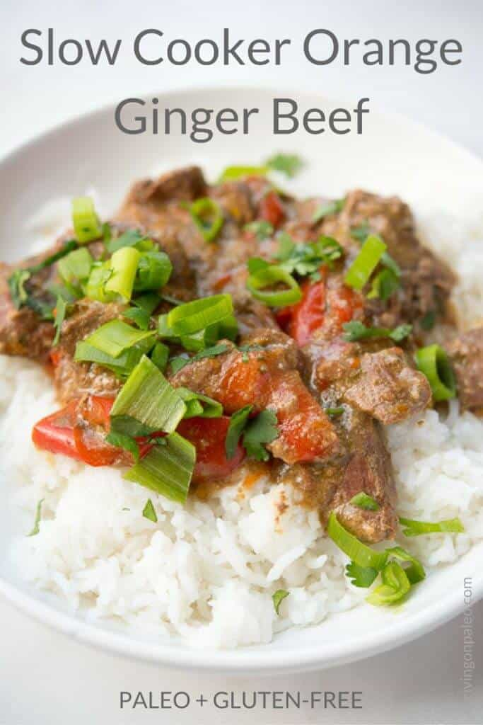 Slow Cooker Orange Ginger Beef - a gluten-free and Paleo Asian-inspired main dish recipe that you can make in your crockpot