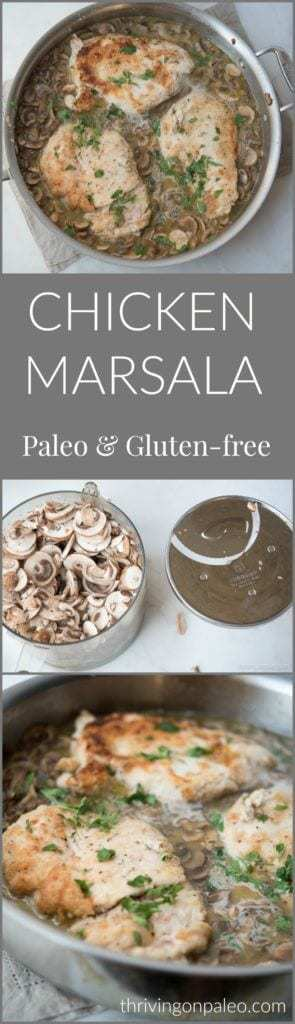 Chicken Marsala is a slightly sweet mushroom and chicken meal that is easy enough for a weeknight dinner but fancy enough for company. This Paleo and gluten-free version is a recipe not to be missed.