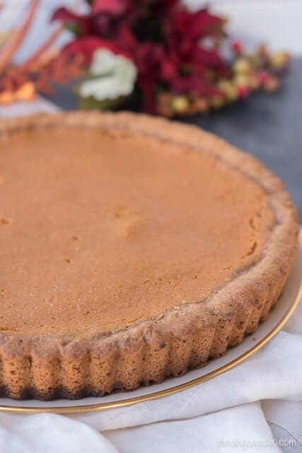 Paleo Sweet Potato Tart made with Fatworks Lard