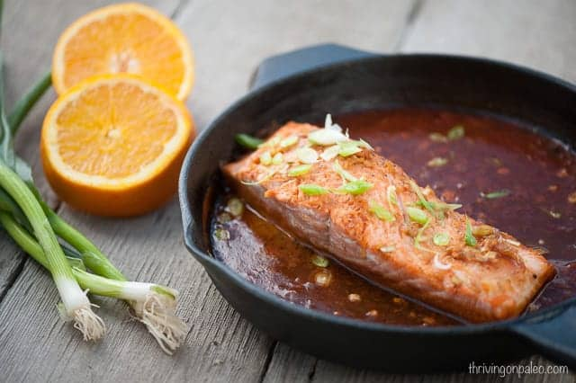 Asian Baked Salmon - a Paleo, gluten-free main dish seafood recipe