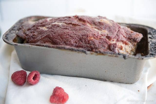 Raspberry Chipotle Meatloaf - a Paleo, gluten-free dinner recipe
