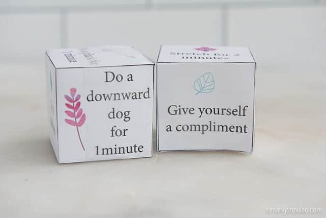 Self Care Movement Dice