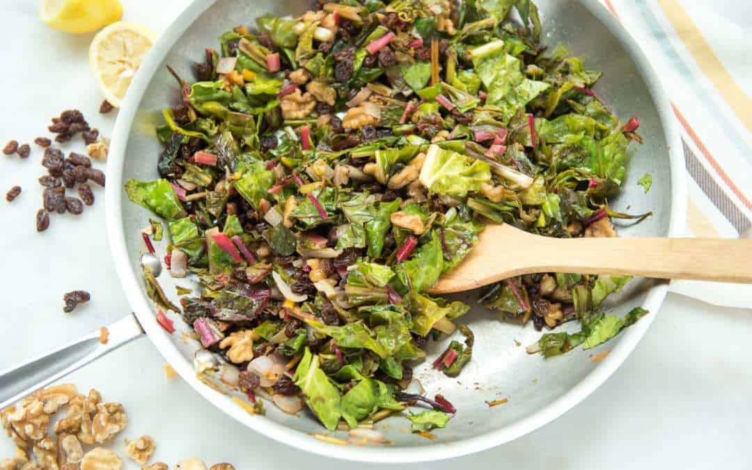 Braised Rainbow Chard (Paleo, Whole30, gluten-free)