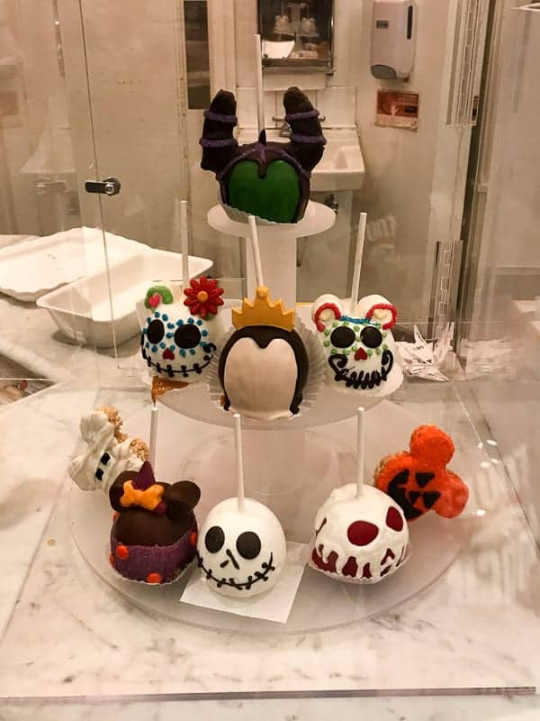 Eating gluten-free at Disneyland - Travel Day- Chocolate covered apples in Downtown Disney