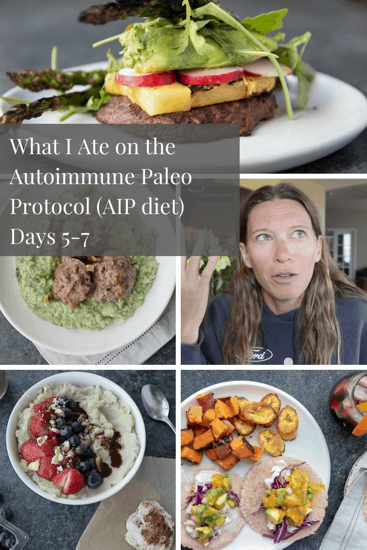 What I ate on AIP Days 5-7 Pinterest Graphic