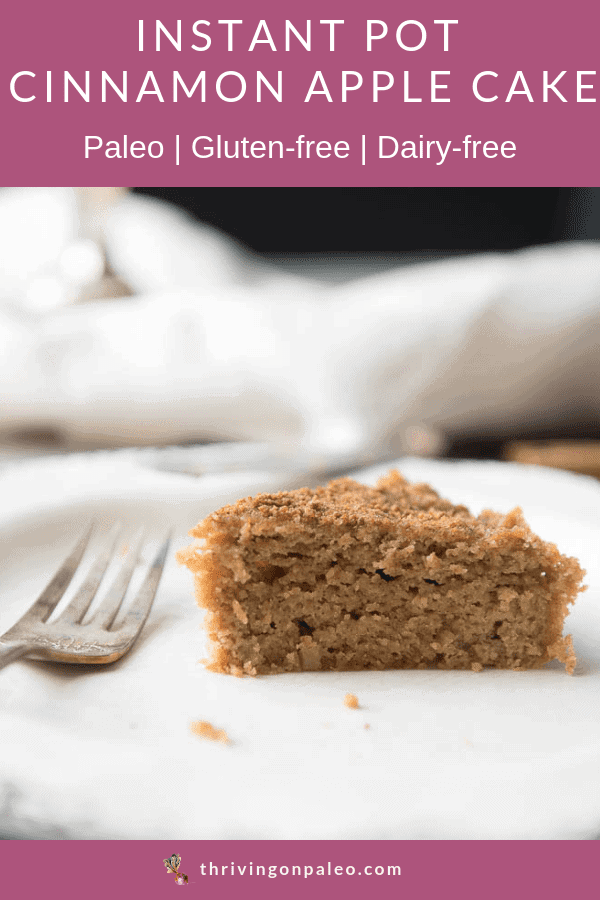 Instant pot cinnamon apple cake pinterest image