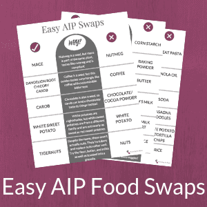 Easy AIP Food Swaps