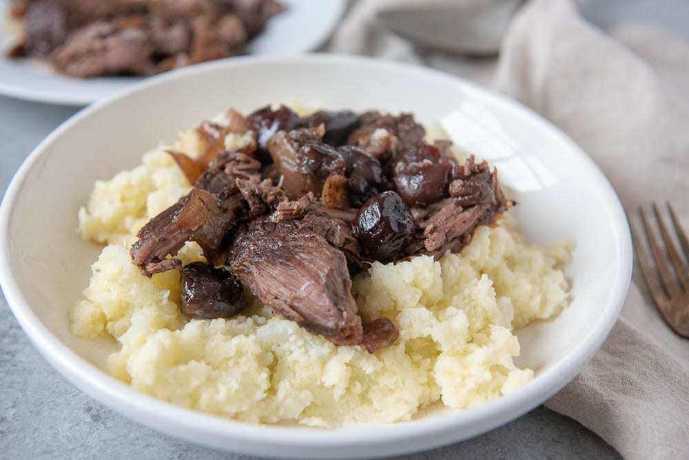 Cherry Balsamic Pot Roast – FREEZABLE! (Paleo, AIP, Whole30)