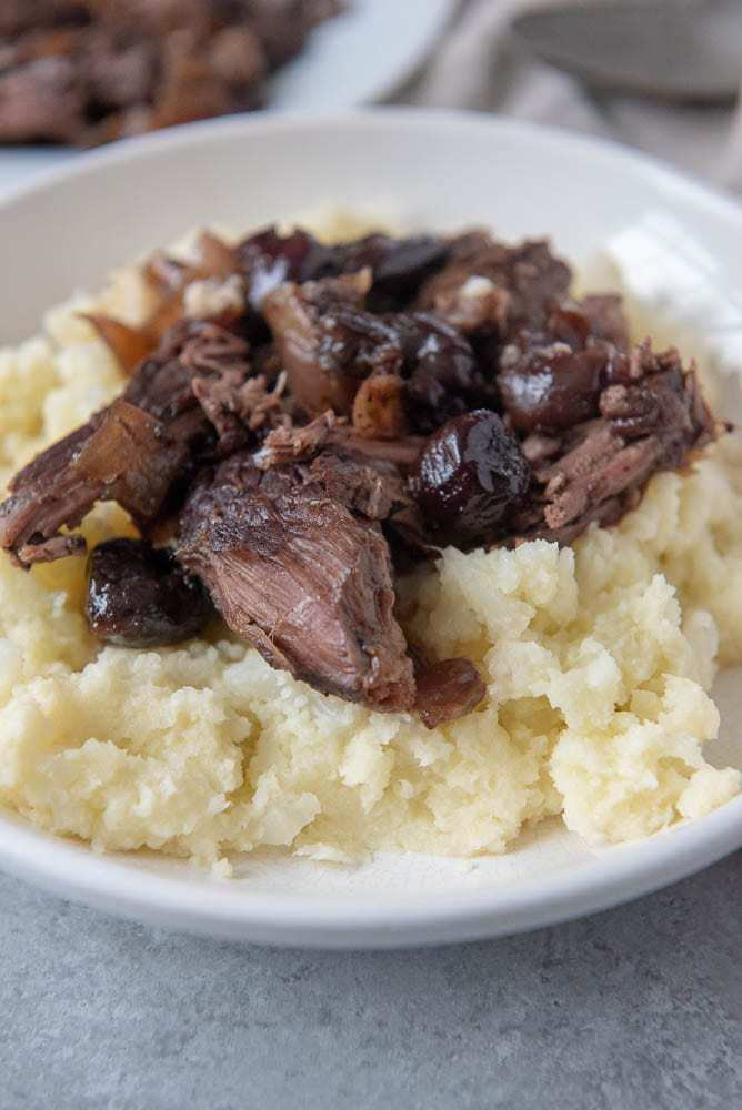 AIP Cherry Balsamic Pot Roast Recipe-side view