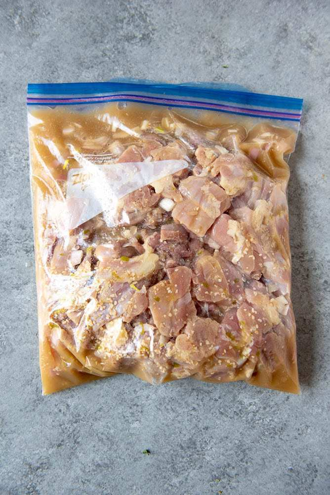 AIP Thai Chicken Soup in a freezer bag ready to be frozen