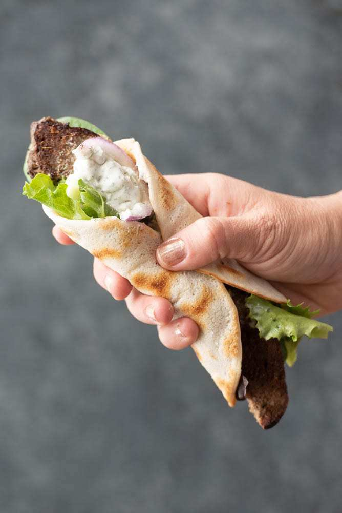 Autoimmune Paleo AIP diet Gyro Wrap Sandwich Recipe side view