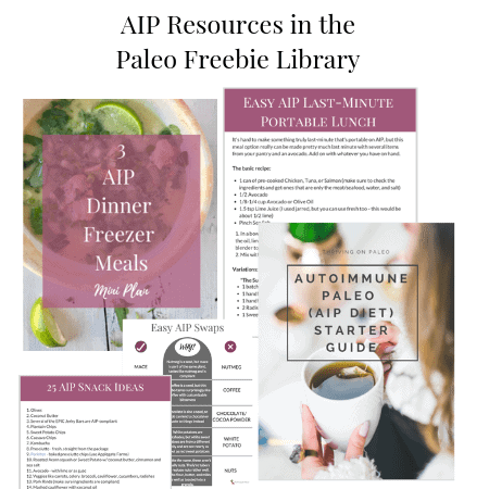 AIP Resources in the Paleo Freebie Library graphic