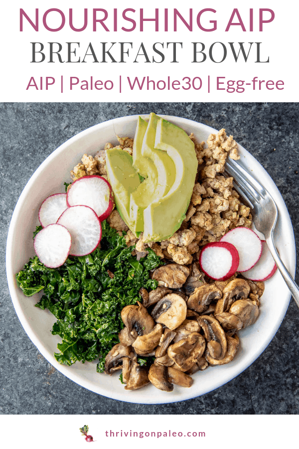 nourishing aip breakfast bowl recipe pinterest image