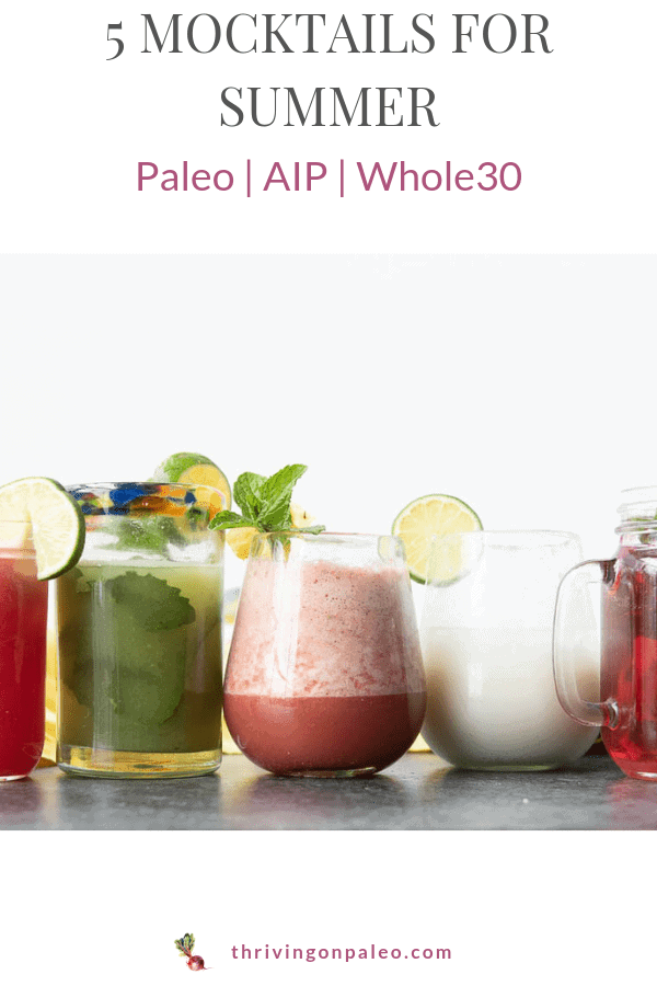Aip Paleo mocktail nonalcholic drinks pinterest image