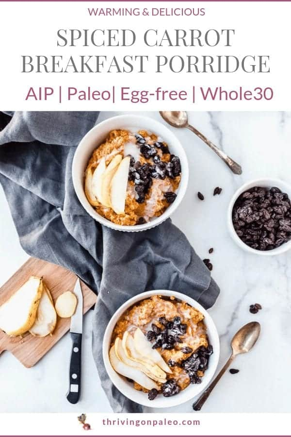 AIP Breakfast porridge Pinterest image