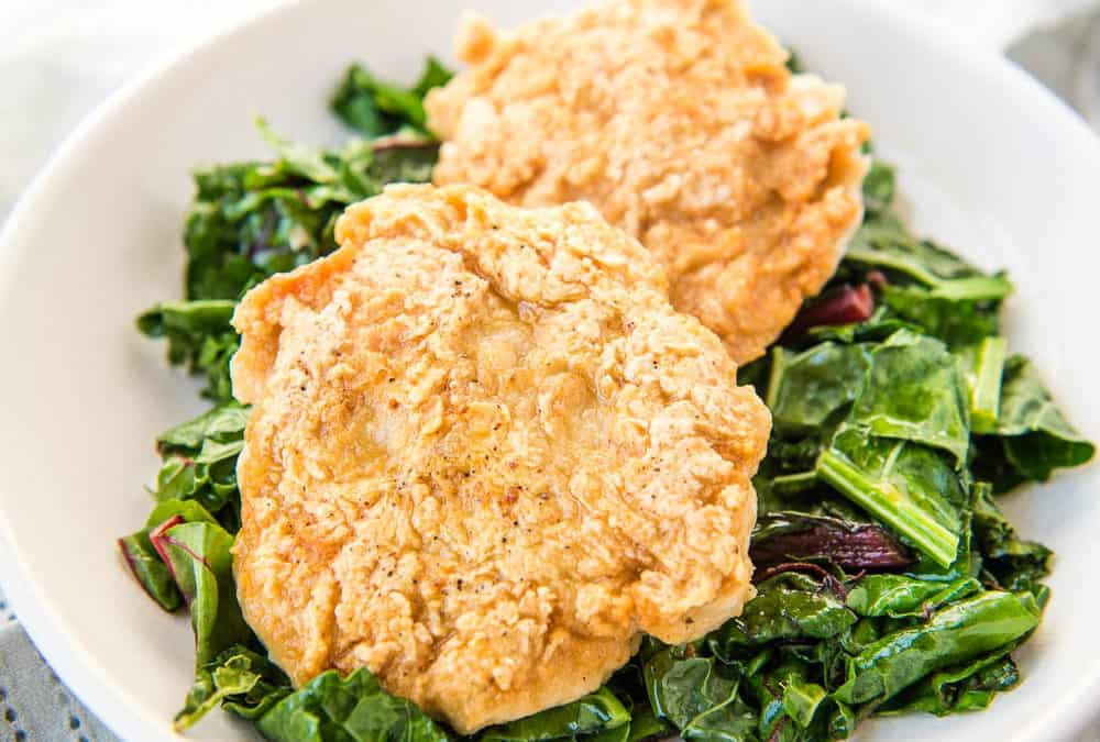 Fried Chicken Burgers (Paleo, Whole30, AIP, Egg-free)