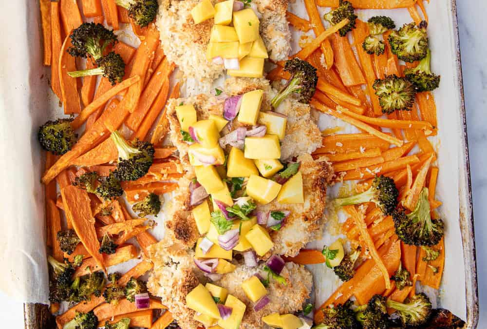 Sheet Pan Coconut Chicken (Paleo, Whole30, AIP)