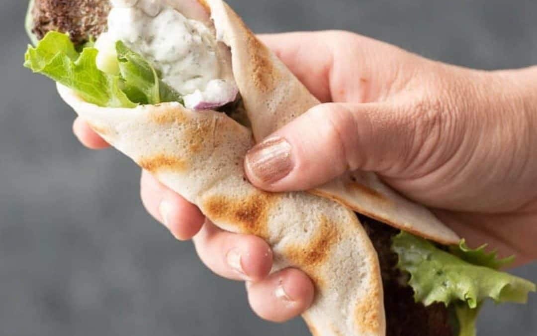 Gryo Wrap Sandwich with Tzatziki Sauce (Paleo, AIP)
